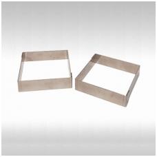 Kvadratinė tartaletės forma (8x8 cm. // 2 cm. - aukštis)