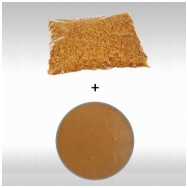 """migdolo - lazdyno riešutų praline 50% (1 kg) + biskvitinis traškutis """"Royaltine"""" (500 gr)"""