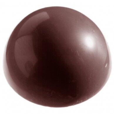 Polikarbonatinė forma pusrutulis 3,8 CM.