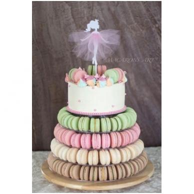 """Prancūziškų migdolinių pyragaičių """"macarons"""" stovas (46 CM) 2"""