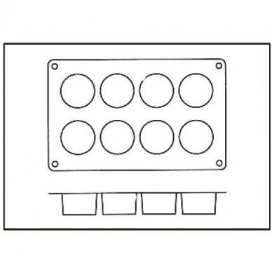 "Silikoninė forma ""8 cylinders"" 2"